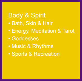 bath, skin, hair, energy, meditation, goddesses, music, sports, recreation
